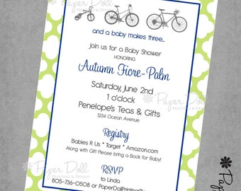 And Baby Makes Three - Baby Shower Invitations - Printed Invitations