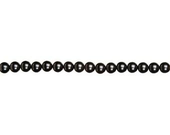 12mm Hematite Glass Pearls (2 Strands)
