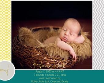 Birth Announcement Digital Custom Birth Announcement, Girls Birth Announcement, Boy's Birth Announcement