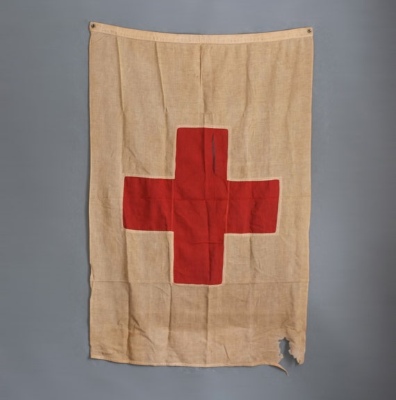 Vintage Ww1 Red Cross Flag 5ft X 3ft By Abrshop On Etsy