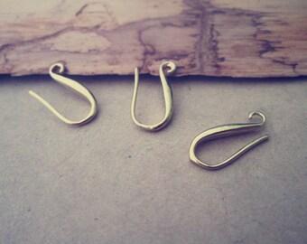 10pcs 9mmx18mm gold color (copper) ear hooks Earrings Accessories