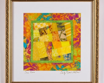 SALE/ Fine Art Original Art Quilt Framed: SUN ROOM