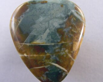 Morrisonite jasper cabochon
