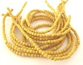 "Yellow Magnesite 4mm round beads - 16"" Strand"
