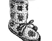 Childs Slippers Granny Square Boot, High and Low, Make Your Own Sole - Crochet pattern PDF 6419