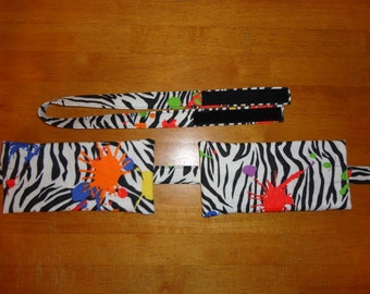 B001 Painted Zebra Flannel Designer Compress Holders by Sew Practical, Mom and Pop Craft