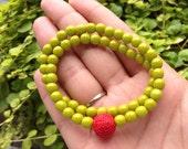 Zen- Green Czech Beaded Bracelet
