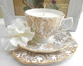 Vintage Teacup Candle -  Sweet Vanilla
