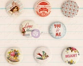 Prima Delight Collection Flair Buttons by Jodie Lee