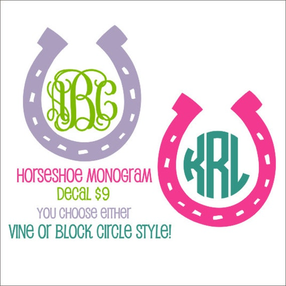 Horseshoe Vinyl Decal Horseshoe Car Decal Cowgirl Country