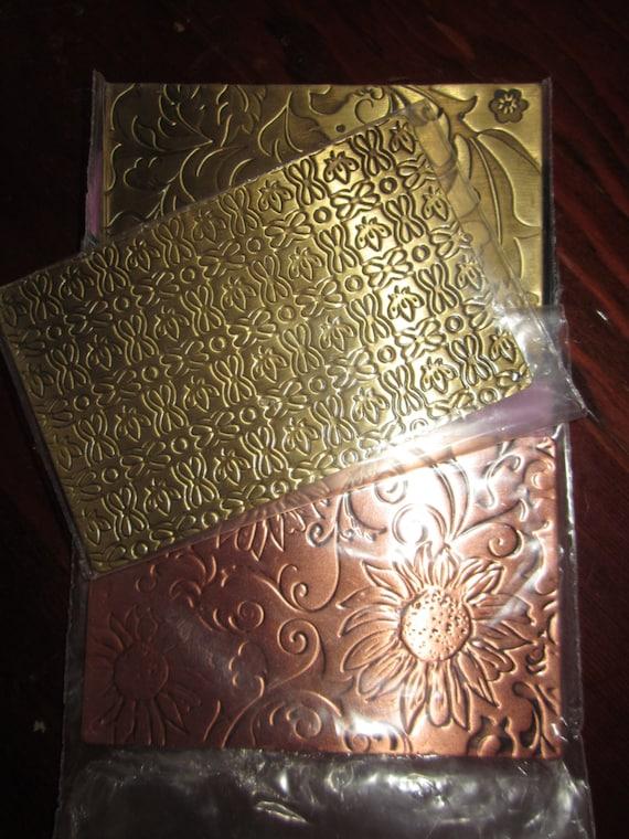 Destash Bead Landing Stamping Textured Metal Sheets Total Of 5