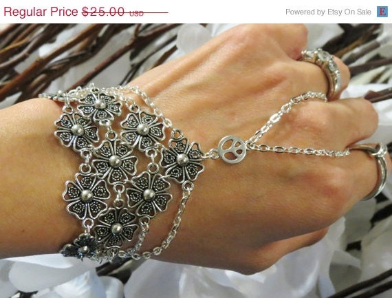 Sized Hippie Wedding Slave Bracelet Ring by ...
