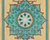 Metta Mandala-  archival print on photo paper