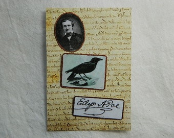 Poe Lapel pin Literary lapel pins Raven pin scatter pins Hat Pin Set of Pins