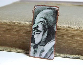 Martin Luther King Jr. necklace mixed media jewelry MLK necklace