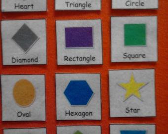 Felt Shapes, Felt Board Shapes, Shapes Felt, Shapes, Preschool Learning, Toddler Learning, Educational Toys, Montessori, Toddler, Felt, Toy