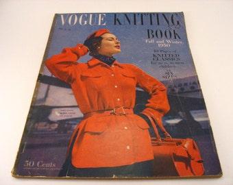 Vogue Knitting Book Magazine Fall and Winter 1950 Knitting Patterns