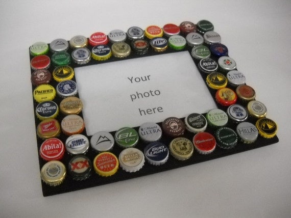 beer bottle cap picture frame
