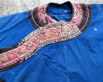 Vintage Hmong shirt  Handmade Fabric, handmade tapestry and textiles, hill tribal fabrics