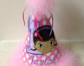 Cute Doc McStuffins birthday hat free personalizepil