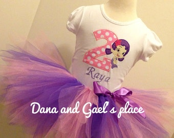 Cute Birthday bubble Guppies Oona tutu and shirt