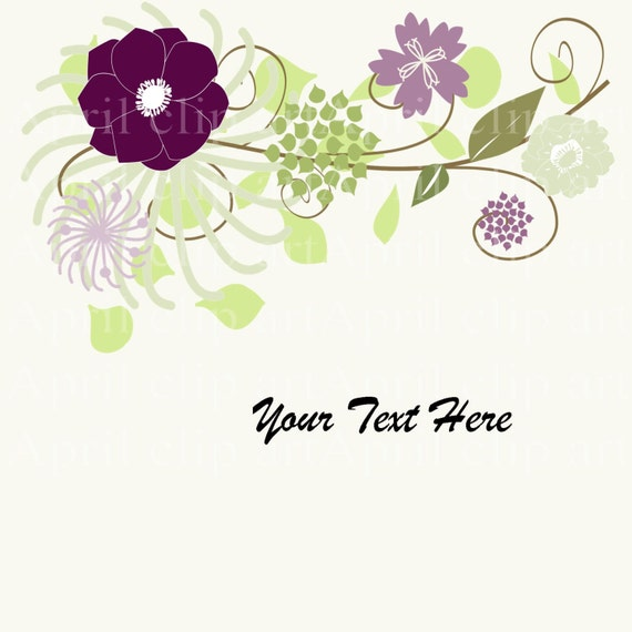 Items Similar To Wedding Flower Clipart Graphic And 14 Clip Art Pieces Digital For