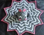 Crochet Hippo Lovey.  Nap time buddy.