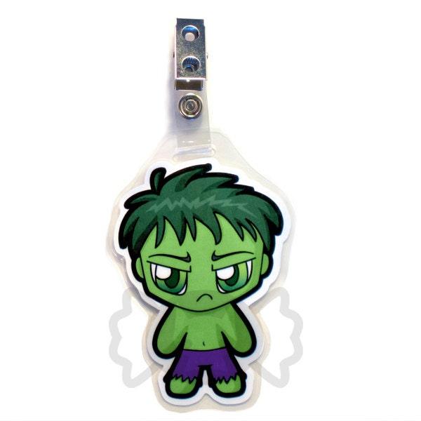 Chibi Hulk Cute Hulk Chibi Badge