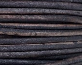 25 Yard Spool - 1.5 mm Natural Grey Leather Cord - #424 - 75 feet - Wholesale