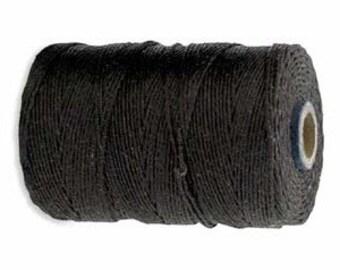 10 yards, Dark Chocolate Brown Irish Waxed Linen, 4 ply,