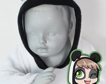 BABY & TODDLER Panda Hoodie, Costume, Vest, Jacket, Hand-made, Cosplay