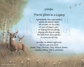 GRANDPA Personalized Gift Keepsake Remembrance plus 2 more