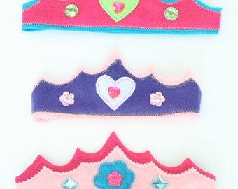 Felt Princess Crown