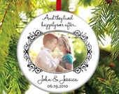 Newlywed Christmas Ornament - Newlywed Christmas Gift - Just Married - Happily Ever After