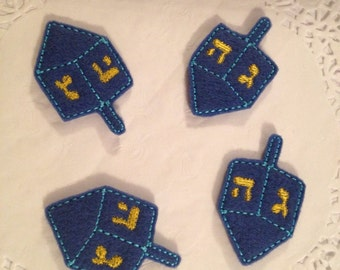 Cute mini felt Dreidel-set of 4