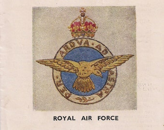 Royal School of Needlework - Badges of H M Forces - Royal Air Force - RAF - WW2 - Embroidery.