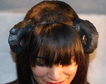 Black succubus demon HORNS  Halloween ren fair cos play larp rave