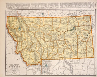 1939 Montana Vintage Atlas Map