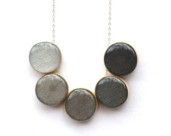 Charcoal grey ombre statement necklace . statement jewelry  Grey bubble necklace starlightwoods