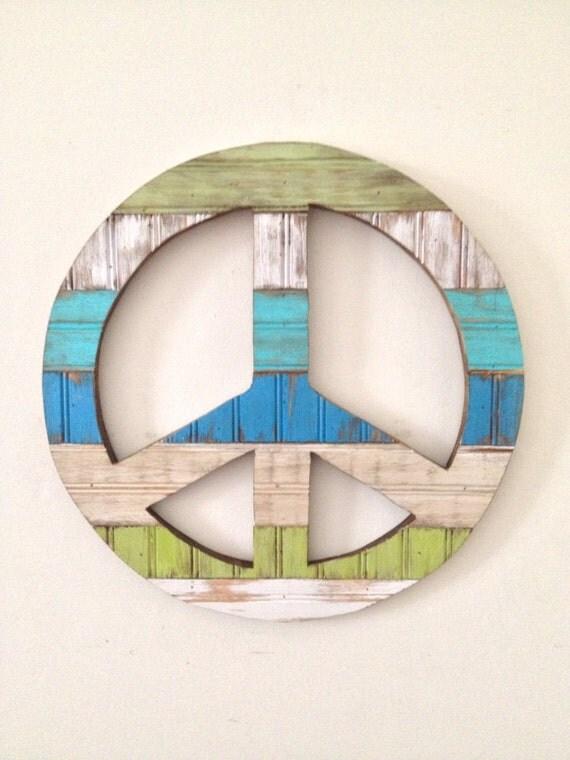 Rustic Home Decor Peace Sign
