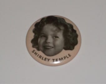 Vintage 1935 Shirley Temple Celluloid Compact  Mirror