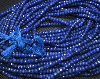Blue Sapphire Beads 9 to 24 Pieces 4.5-5mm Natural Faceted Rondelle Precious Gemstone Strand Take 10% Off Bridal Jewelry Craft Supply Sale