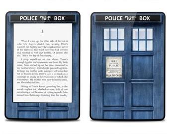 Amazon Kindle Paperwhite Skin Cover - Police Box - Kindle Cover, Kindle Paperwhite Cover