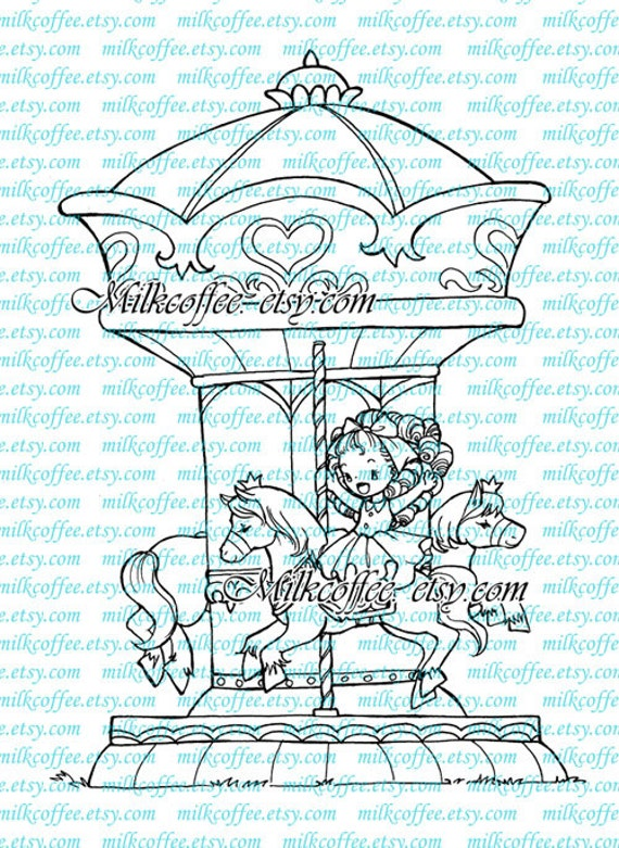 Digital Stamp - Nikki in the Carrousel