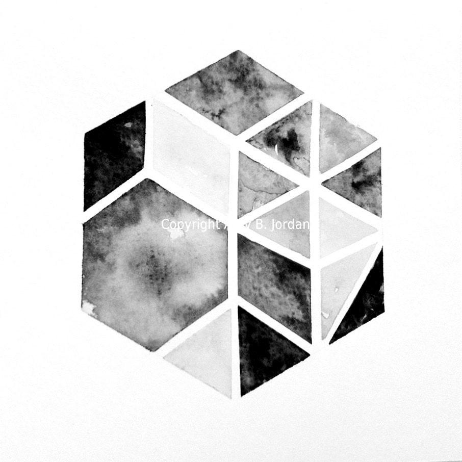 Featured by West Elm Original Hexagon Triangle Geometric ...