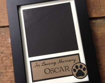 In Loving Memory --- Custom Order Dog Layout -- WITHOUT FRAME
