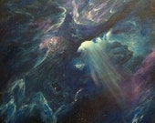Dust Clouds Outer Space Painting