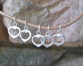 5 Heart Charms Sterling Silver 925 Small Open 8.5mm x 10mm Valentines Jewelry Finding