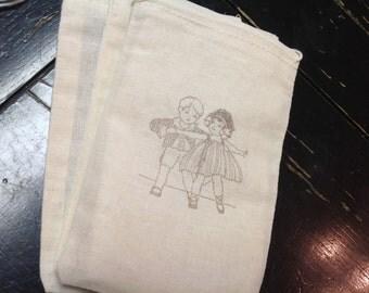 Wedding favor Muslin Bags-Great for Wedding favors Favors-bridal favor bags-Drawstring bags 4x6