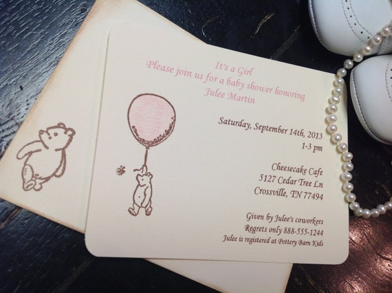 il_570xN.491245681_98m7 winnie the pooh invitation pooh baby shower invitation pooh,Vintage Winnie The Pooh Invitations